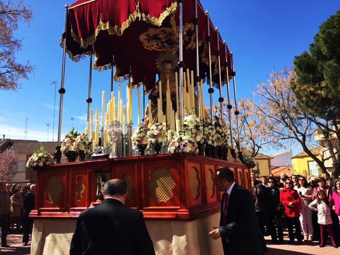 Malagón La procesión con la Virgen de la Alegría y Jesús Resucitado cerró la Semana Santa