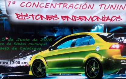 """Pozuelo de Calatrava: Este fin de semana se celebra la """"I Concentración Tunning"""" organizada por los """"Pistones Endemoniaos"""""""