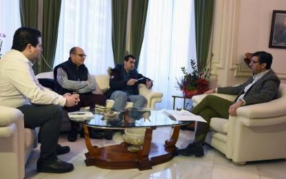 El director del Festival Internacional de Teatro Clásico de Almagro presenta su línea de trabajo al presidente de la Diputación de Ciudad Real