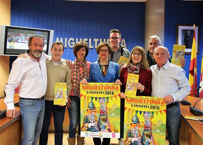 Miguelturra presentó el Carnaval 2018 que se iniciarán con el pregón de Los Mojinos Escozios