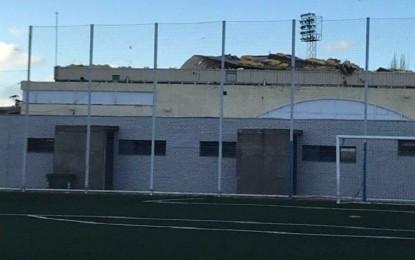 Ciudad Real: El temporal de ayer tarde ocasionó desperfectos de importancia en el Polideportivo Rey Juan Carlos