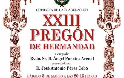 Ciudad Real: La Cofradía de la Flagelación celebra este sábado el Pregón de Hermandad y presentación del cartel de la Semana Santa 2018