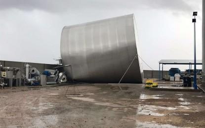 Las fuertes rachas de viento ocasionan importantes daños materiales en Villarrubia de los Ojos