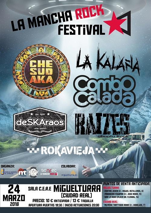 cartelconciertolamancharockfestivalmarzo2018