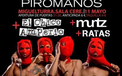 """Miguelturra: Kitai presenta su último disco, """"Pirómanos"""" en el CERE el próximo 11 de mayo"""
