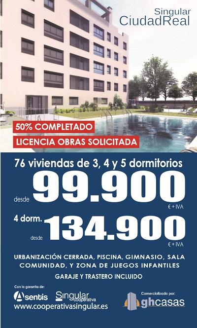 Viviendas de 3, 4 y 5 dormitorios, desde 99.900 euros