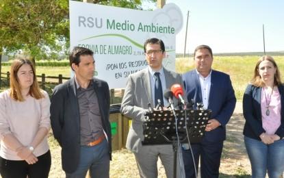 Almagro: Daniel Reina y José Manuel Caballero inauguran la Ecovía de tres kilómetros de recorrido
