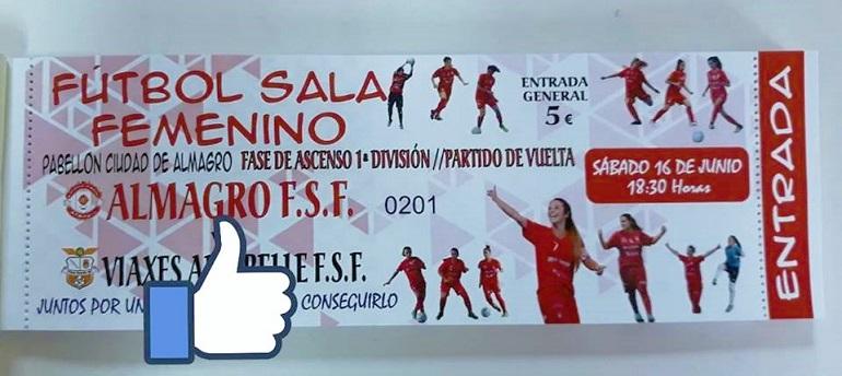 Consigue tu entrada para el partido de vuelta de los play off de ascenso a primera division Almagro FSF
