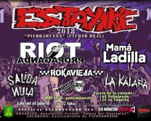 Piedrabuena: El 12 Festival Estayike 2018 acogerá a destacadas figuras del punk-rock nacional este sábado