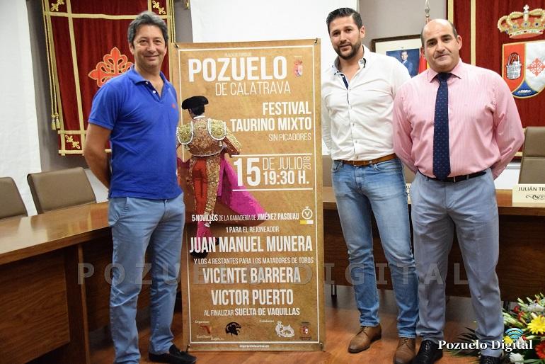 Pozuelo de Calatrava Festejo taurino mixto para la Feria y Fiestas 2018 con dos míticos del toreo, Vicente Barrera y Víctor Puerto