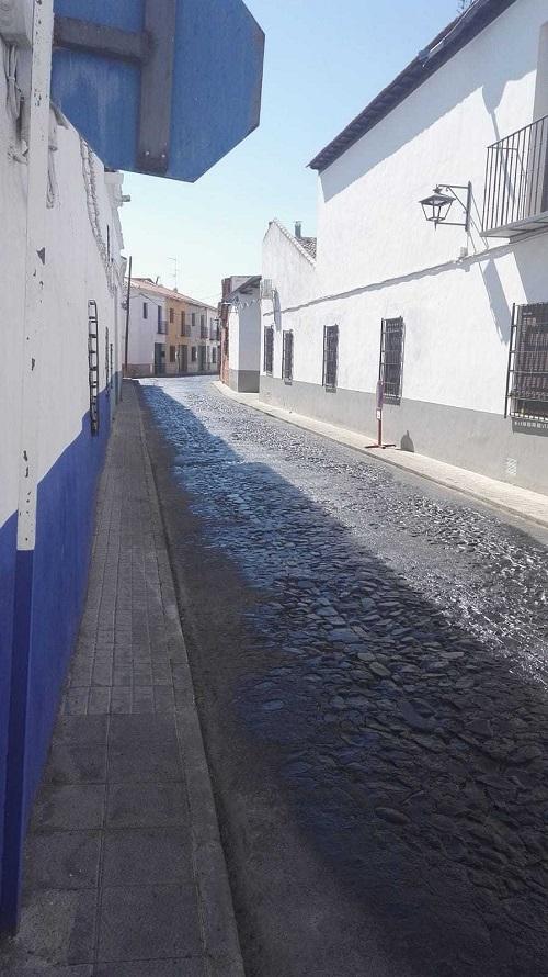 Asfaltado de calles de zona de proteccion en Almagro