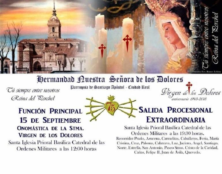 La Perchelera procesionará por las calles de Ciudad Real con motivo de su 75 Aniversario