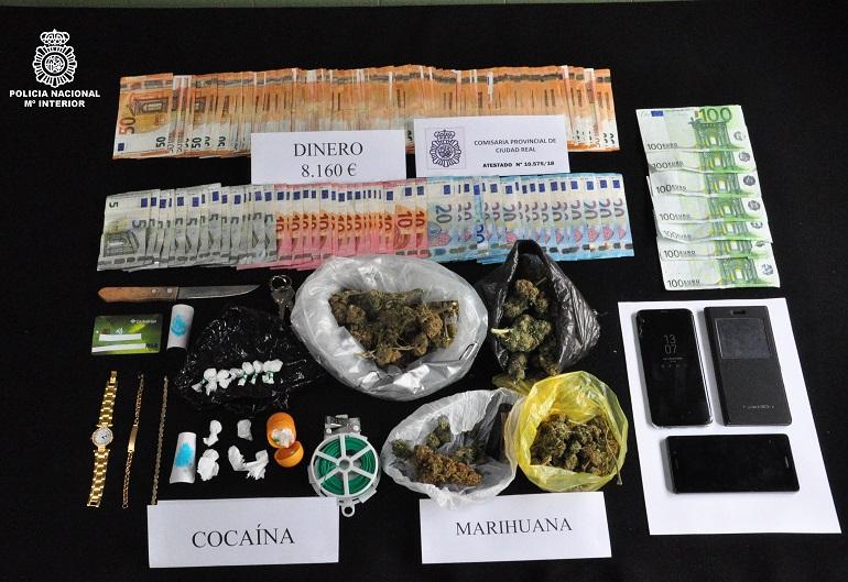 Ciudad Real Desactivados dos puntos de venta de droga que distribuían cocaína y marihuana a menores de edad