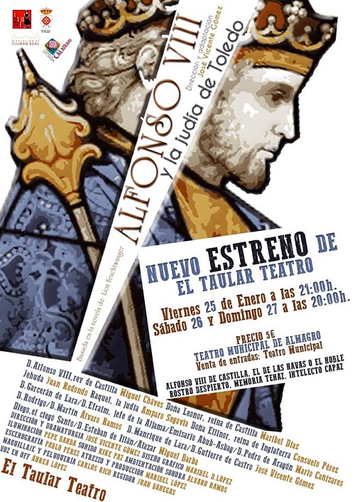Cartel estreno Alfonso VIII y la Judia de Toledo