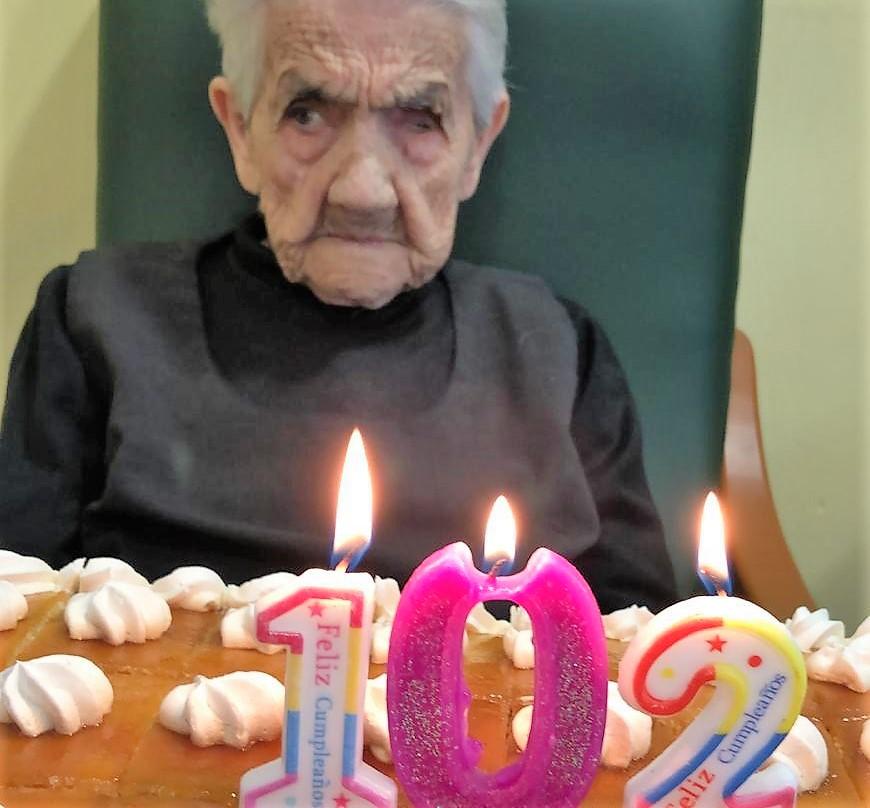 Malagón Matilde cumple 102 años!
