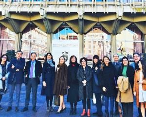 Rosa Romero asistió como anfitriona a los miembros de la Mesa del Congreso en su visita a Ciudad Real
