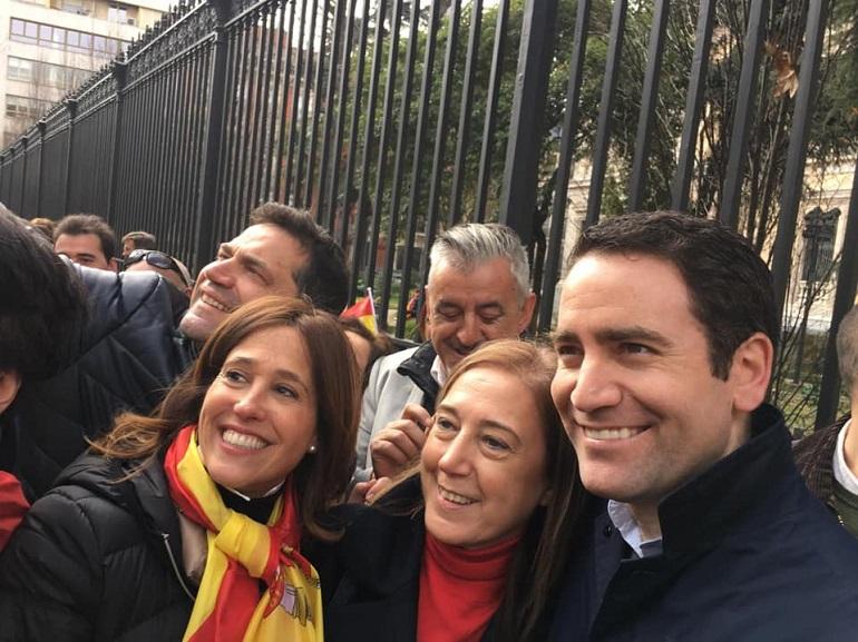 Afiliados y simpatizantes ciudadrealeños en la manifestación del 10F de Madrid