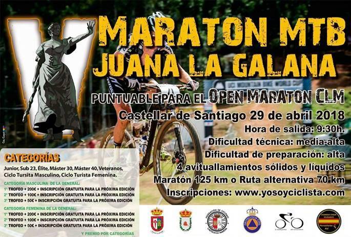 Arranca el Open BTT Maratón de CLM 2018 con el V Maratón Juana La Galana de Castellar de Santiago