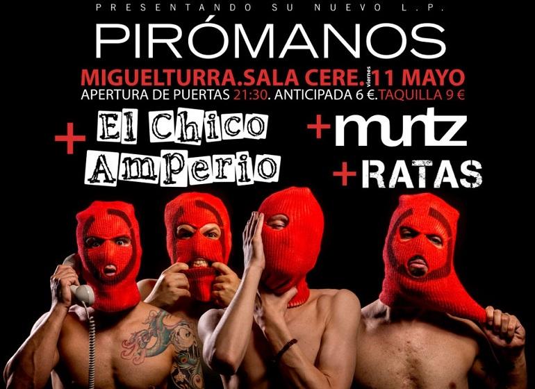 Miguelturra Kitai presenta su último disco, Pirómanos en el CERE el próximo 11 de mayo