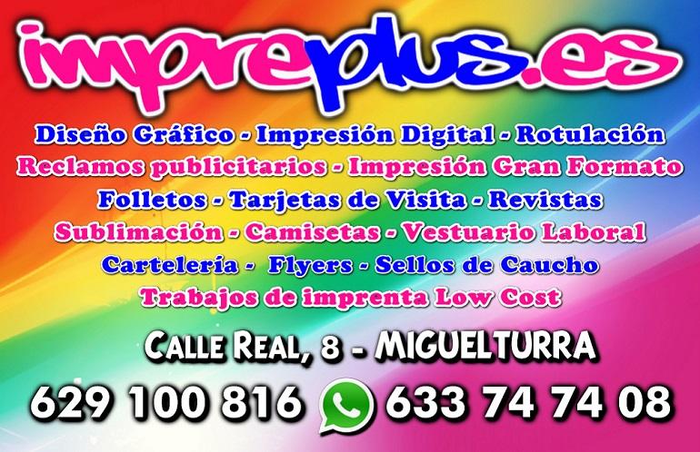 Tarjeta Visita Impreplus Miguelturra