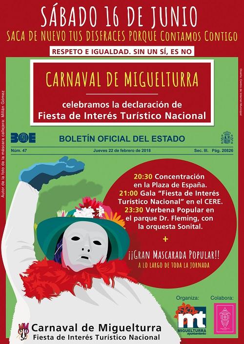 cartel fiesta carnaval 16 junio
