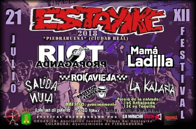 Piedrabuena El 12 Festival Estayike 2018 acogerá a destacadas figuras del punk-rock nacional este sábado