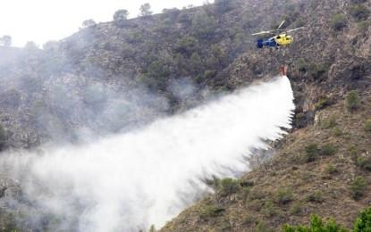 Moral de Calatrava: Controlado el incendio declarado en la tarde de ayer en el que han participado más de 50 medios y 210 personas