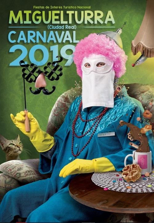 Cartel Anunciador Carnaval 2019 Miguelturra 500