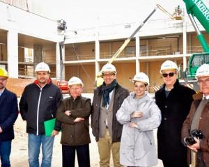 José Manuel Caballero y Pilar Zamora han asistido a la colocación de la primera viga del Pabellón Ferial de Ciudad Real