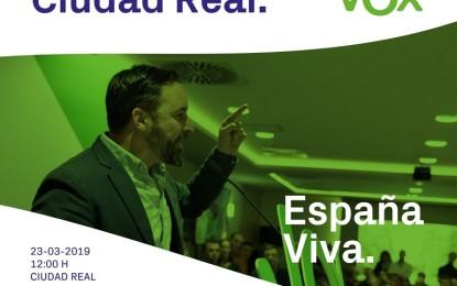 Ciudad Real: El presidente de Vox, Santiago Abascal, asistirá a un acto electoral en el Paraninfo de la Universidad