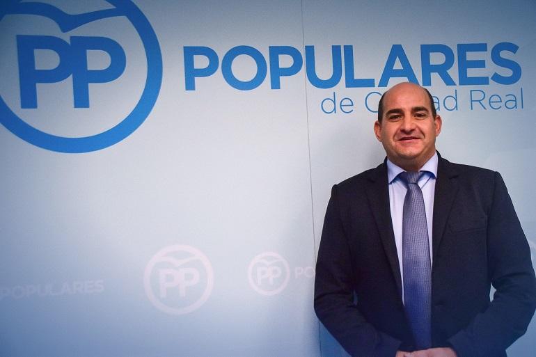 Julian Triguero en la Sede del PP en Ciudad Real