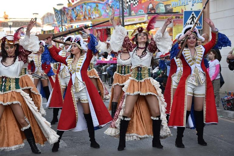 Miguelturra El Aroma de Café de las Amas de Casa de Pozuelo, segundo premio del Desfile de Carrozas y Comparsas del Carnaval 2019