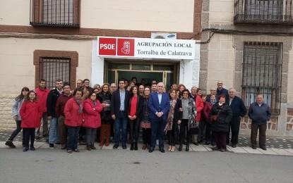 """Caballero inaugura la Casa del Pueblo del PSOE de Torralba de Calatrava deseando que sea """"la bandera que acoja a todos los torralbeños y torralbeñas"""""""