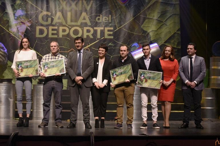 Jimena Laguna, Francisco José García, Herminia Parra y Javier Rivas, ganadores de la XXIV Gala del Deporte Provincial