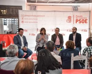 Pozuelo de Calatrava: Patricia Franco y Miguel González piden el voto para el PSOE para que autónomos y empresarios sigan recibiendo el apoyo de los gobiernos socialistas