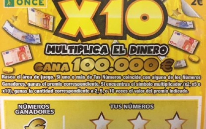 Un vecino de Ciudad Real gana 100.000 euros con el 'RascaX10' de la ONCE