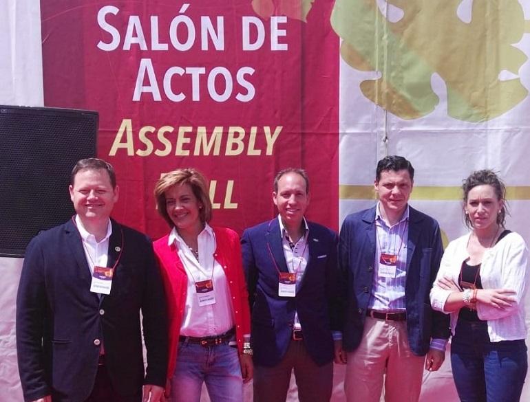 Ciudad Real Los cabezas de lista de VOX y el candidato a la presidencia a la Junta asistieron a la inauguración de FENAVIN 2019