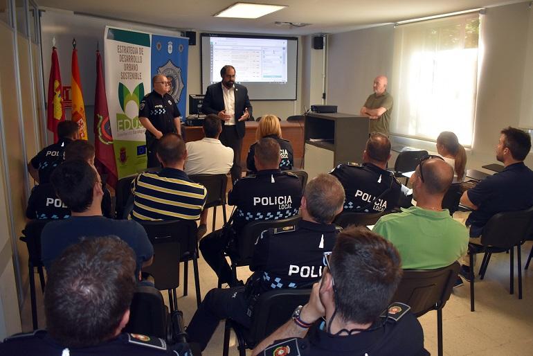 Agentes de la Policía Local de Ciudad Real se forman en la nueva herramienta de gestion integral