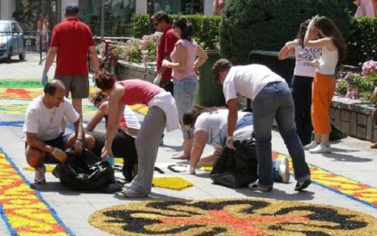 Ciudad Real: Cinco alfombras de sal adornarán la procesión del Corpus este domingo
