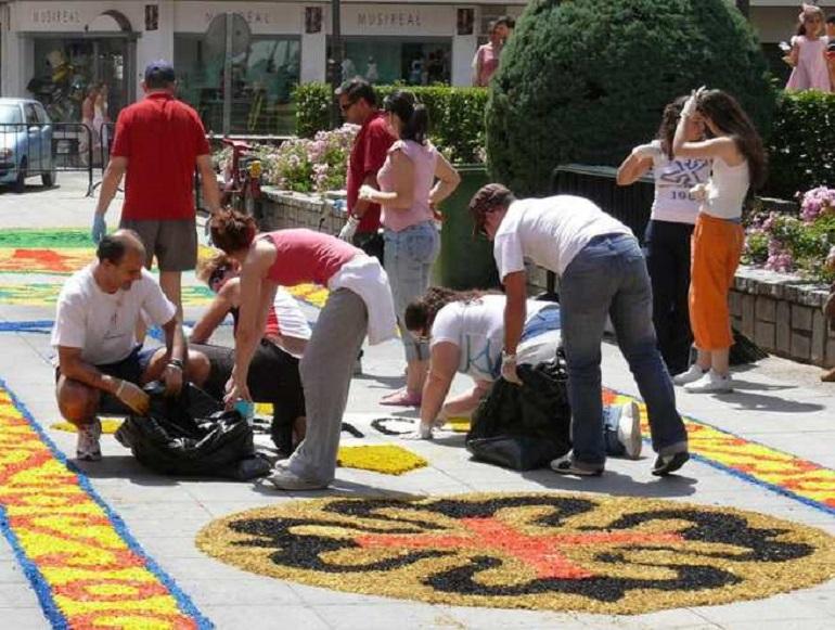Ciudad Real Cinco alfombras de sal adornarán la procesión del Corpus este domingo