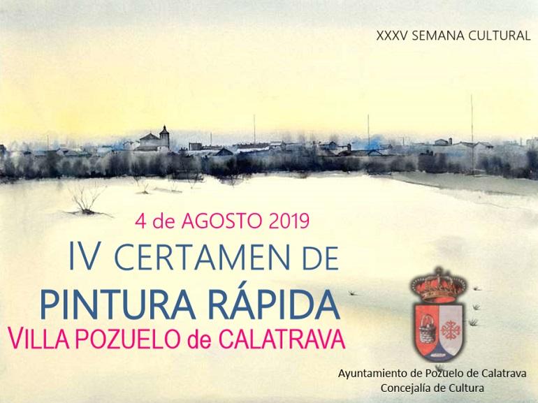 Pozuelo de Calatrava Convocado el IV Certamen de Pintura Rápida que se celebrará el próximo 4 de agosto
