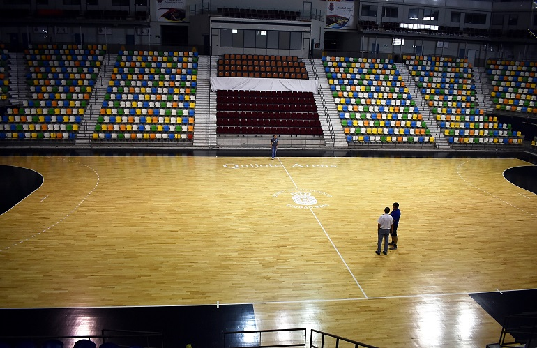 Ciudad Real El Ayuntamiento destina 28.000 euros a la mejora de la pista del Pabellón Quijote Arena