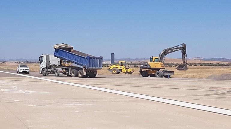 El Aeropuerto de Ciudad Real acelera las obras de mejora ante su próxima apertura el día 12 de septiembre