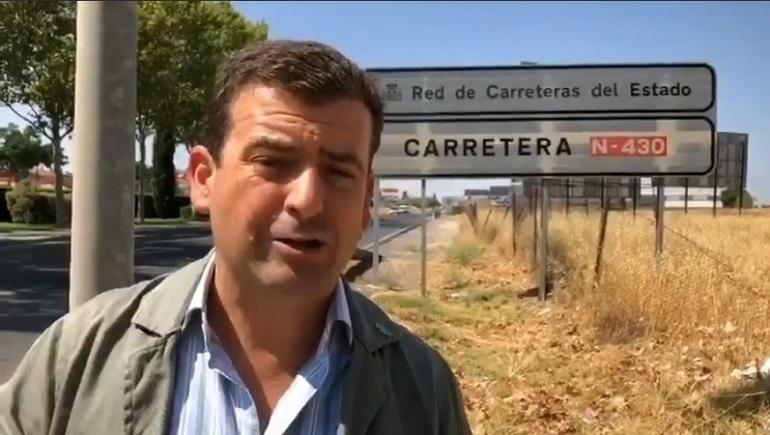 Vox denuncia la precaria situación de la N-430 y de las conexiones ferroviarias de Extremadura