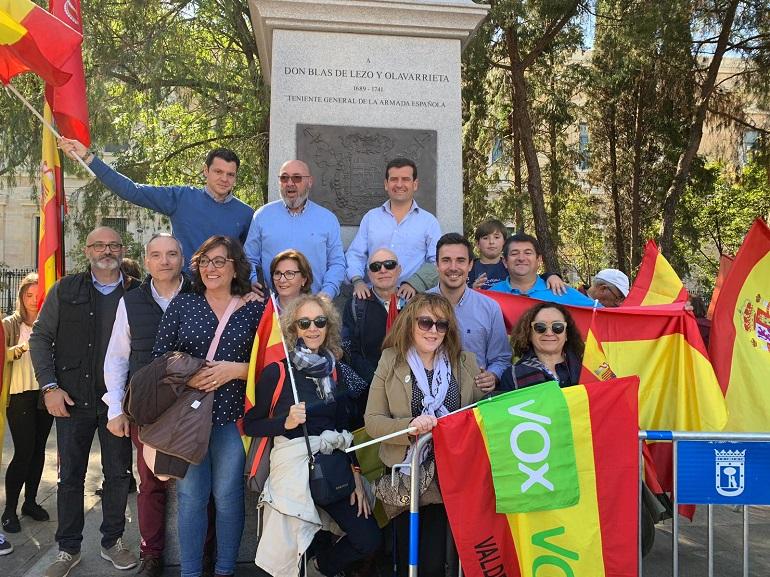 Vox Ciudad Real estuvo presente este fin de semana en Colón
