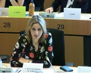 """La eurodiputada Cristina Maestre pide a Europa que se """"moje para salvar Las Tablas de Daimiel"""""""