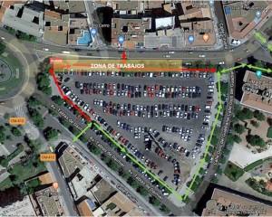 Ciudad Real: Las obras en la red de distribución de la Ronda  de Ciruela motivan un cambio en el itinerario peatonal