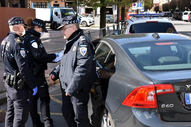 Ciudad Real La Policía Local tramita 560 actas de denuncia o control y detiene a 3 personas durante el estado de alarma