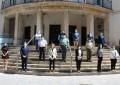 Ayer se llevó a cabo un minuto de silencio frente a la Subdelegación de Ciudad Real por las víctimas del coronavirus