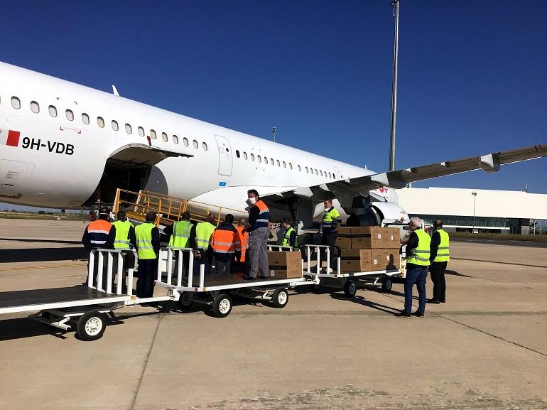 Ciudad Real Aterriza el primer vuelo del corredor sanitario entre China y España